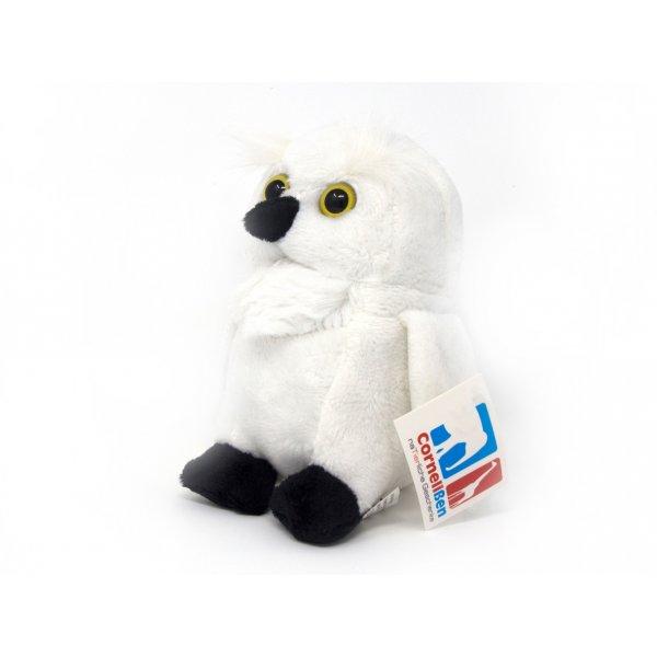 Kuscheltier - Schnee-Eule weiß - 14 cm