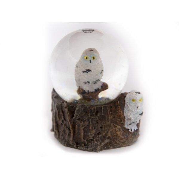 Schneekugel Poly Mini - Schnee-Eule