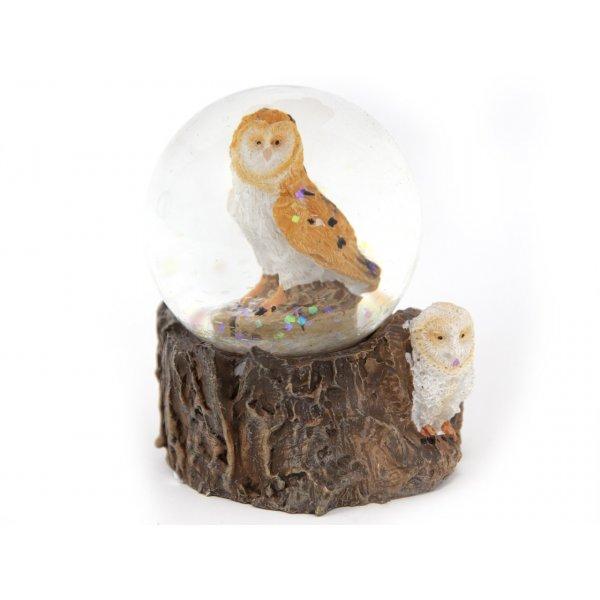 Schneekugel Poly Mini - Schleiereule