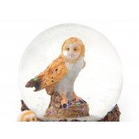 Schneekugel Poly - Schleiereule