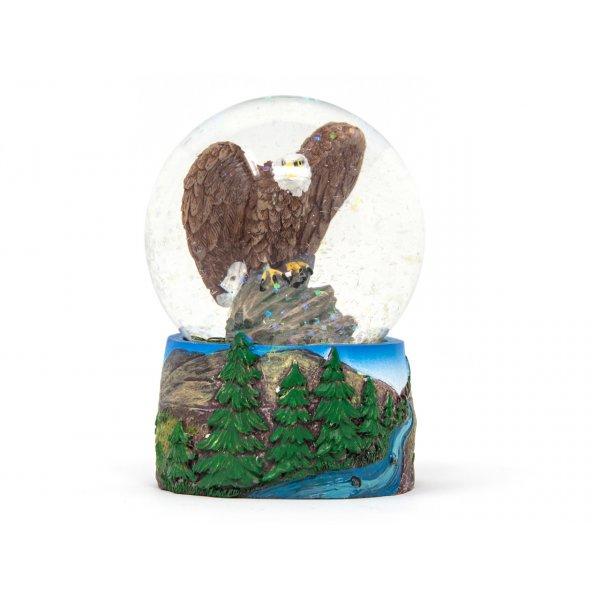 Schneekugel Poly - Adler