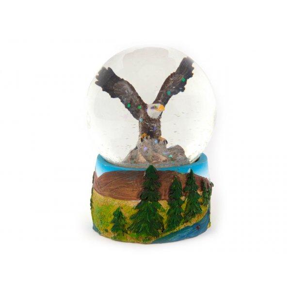 Schneekugel Poly - Adler Flug