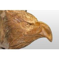 Adlerkopf stehend aus Teakholz