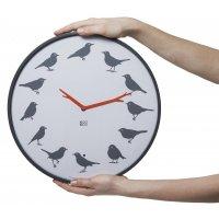 KooKoo Wanduhr - UltraFlat, Vogelstimmen Design Uhr